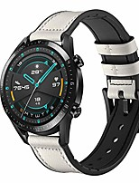 cheap -compatible for huawei watch gt2/gt/gt 2e 46mm bands 22mm leather and silicone hybrid strap for samsung galaxy watch 46mm /gear s3 classic/frontier smart watch band