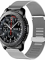 cheap -compatible samsung galaxy watch 46mm bands,replacement stainless steel solid wrist bands metal bracelet for samsung galaxy 46mm/samsung gear s3 (silver)