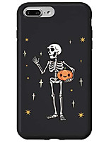 cheap -iphone 7 plus/8 plus skeleton holding jack-o-lantern pumpkin funny gift halloween case