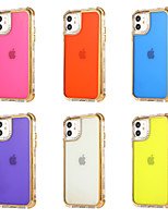 cheap -Case For Apple iPhone 12 / iPhone 11 / iPhone 12 Pro Max Shockproof Back Cover Solid Colored TPU