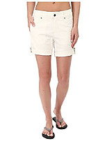 cheap -women's marly roll-up shorts, creme, size 4