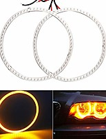cheap -everbright 1-pair amber 90mm car angel eyes headlight cob halo ling circle led ring lamp for bmw benz daytime running lights yellow dc12v