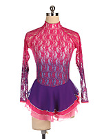 cheap -21Grams Figure Skating Dress Women's Girls' Ice Skating Dress Red Spandex High Elasticity Training Competition Skating Wear Crystal / Rhinestone Long Sleeve Ice Skating Figure Skating / Kids