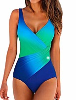 cheap -womens swimming costume one piece swimsuit bikini padded push up beachwear swimwear sets blue