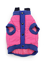 cheap -Dog Cat Coat Jacket Solid Colored Cute Funny Casual / Daily Winter Dog Clothes Puppy Clothes Dog Outfits Breathable Fuchsia Blue Costume for Girl and Boy Dog Cotton S M L XL XXL