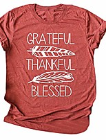 cheap -women's 2019 casual letter printed t-shirt short sleeve thankful blessed shirts faith over fear arrow tee tops(br,2xl)