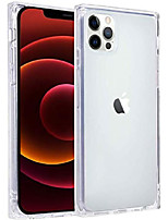 cheap -case compatible with iphone 12 pro max case clear square slim protective shockproof anti-scratch [wireless charging supported] tpu shell compatible with iphone 12 pro max 6.7 inch transparent