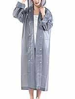 cheap -unisex outdoor waterproof thicken hooded reusable raincoat rain poncho rainwear - grey