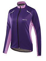 cheap -21Grams Women's Long Sleeve Cycling Jacket Winter Fleece Polyester Violet Rose Red Bike Jacket Top Mountain Bike MTB Road Bike Cycling Fleece Lining Breathable Warm Sports Clothing Apparel / Stretchy