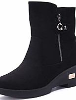 cheap -womens ladies winter shoes boots fur lining warm snow boots outdoor ankle booties shoes size black uk 3= 36cn