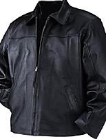 cheap -men's napa leather straight bottom jacket m black