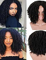 cheap -short afro kinky curly hair wigs for black african american women black costume synthetic wigs that look real(black)