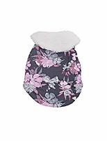 cheap -toianshm 2020 winter printed flower-style lapel belly with dog cape dog clothes warm winter puppy sweater soft thickening(5 size) (purple, s)