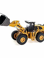 cheap -1/60 scale metal diecast four wheel loader truck toy metal construction equipment bulldozer models engineering vehicle alloy models toys for kids and decoration house