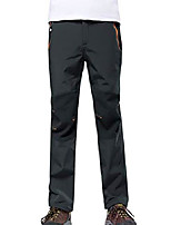 cheap -men's outdoor fleece lined soft shell waterproof windproof splice hiking anytime work out pants dark grey 3xl