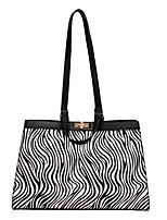 cheap -Women's Bags PU Leather Leather Top Handle Bag Pattern / Print Zipper Geometic Daily Outdoor Handbags Baguette Bag Black