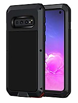 cheap -galaxy s10 case, shockproof military grade full body protective case cover heavy duty rugged drop resistant defender for samsung galaxy s10 (without screen protector), black