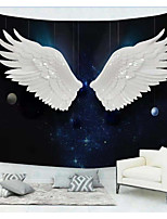 cheap -Wall Tapestry Art Decor Blanket Curtain Picnic Tablecloth Hanging Home Bedroom Living Room Dorm Decoration Polyester White Wings Planet Starry Sky