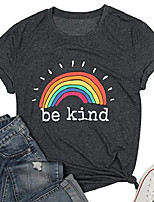 cheap -be kind t shirt women rainbow print graphic tees tops funny inspirational saying casual short sleeve tops shirts
