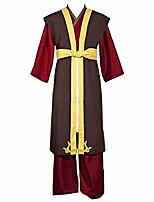cheap -zuko book three fire prince of the fire nation outfit cosplay costume (male s) brown