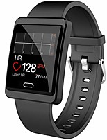 cheap -maxtop smart watch for android phones - ios phones, full screen large size metal shell clear interface smartwatch for women men and teenager black