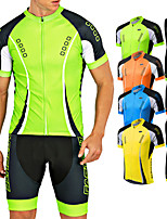 Cycling Suit Men Short Sleeve Bicycle Jersey Summer 5D Gel Pad Shorts