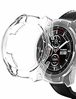 cheap -watch case for ticwatch pro galvanized tpu half-packageage watch case (black) (color : transparent)