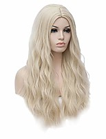 cheap -blonde princess cosplay wig for women, 28'' long wavy gold heat resistant wig for daily halloween with cap