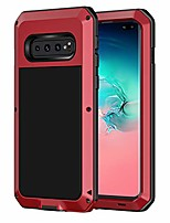 cheap -galaxy s10 plus case, shockproof military grade full body protective case cover heavy duty rugged drop resistant defender for samsung galaxy s10 plus (without screen protector),red