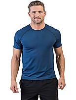 cheap -reign tech short sleeve estate blue/navy large anti-odor, moisture wicking workout shirt workout shirts