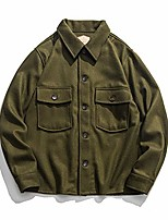cheap -us naval shirt winter wool coat for men 42 olive green