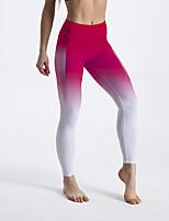 cheap -Women's Sporty Comfort Gym Yoga Leggings Pants Gradient Ankle-Length Print Gradient red