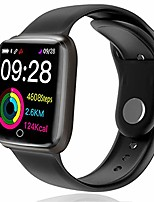 cheap -lhs bluetooth smart watch with 1.3 inch color screen fitness tracker activity tracker sleep monitor sport band ip68 waterproof pedometer smartwatch step counter for women men (black)