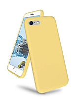 cheap -compitable with iphone se2 2nd (2020)/iphone 7/iphone 8 case, slim liquid silicone gel rubber cover with soft microfiber lining, full body shockproof protective case, yellow