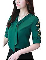 cheap -women's embroidered floral shirts long sleeve casual shirt tops fashion blouse