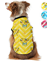 cheap -Dog Shirt / T-Shirt Animal Printed Cute Casual / Daily Dog Clothes Puppy Clothes Dog Outfits Breathable Yellow Blue Pink Costume for Girl and Boy Dog Polyster S M L XL