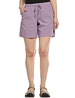 cheap -women's lucy high rise pull on drawstring short, wisteria, x-large petite