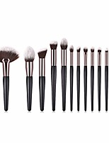 cheap -makeup brush set women's professional 12pcs makeup brush foundation brush powder pink blush brush eye shadow brush high gloss silhouette brush set brush white (color : black gold)