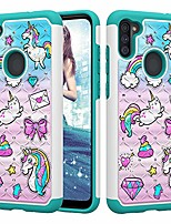cheap -case for samsung galaxy a11, glitter sparkly bling diamond [drop protection] heavy duty case for samsung galaxy a11 (cute unicorn)