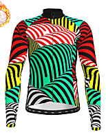 cheap -21Grams Men's Long Sleeve Cycling Jersey Winter Fleece Polyester Green Bike Jersey Top Mountain Bike MTB Road Bike Cycling Fleece Lining Warm Quick Dry Sports Clothing Apparel / Stretchy / Athleisure