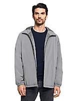 cheap -mens lightweight hooded ultra stretch water resistant windbreaker jacket, black, x-large