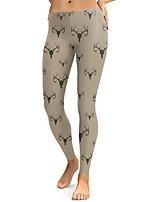 cheap -Women's Sporty Comfort Gym Yoga Leggings Pants Patterned Full Length Khaki