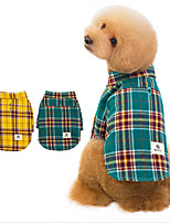 cheap -Dog Shirt / T-Shirt Polo Solid Colored Stylish Leisure Casual / Daily Dog Clothes Puppy Clothes Dog Outfits Breathable Yellow Green Costume for Girl and Boy Dog Cotton S M L XL XXL