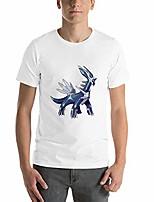 cheap -short sleeve t-shirt for men,dialga,3xl white