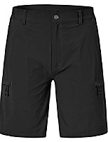 cheap -men's stretchy quick dry cargo shorts hiking cycling camping travel shorts with 6 pockets(black, us 38)