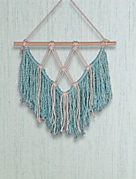 cheap -Hand Woven Macrame Wall Tapestry Bohemian Boho Art Decor Blanket Curtain Hanging Home Bedroom Living Room Decoration Nordic Handmade Tassel Cotton Purple Lake Blue