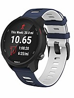 cheap -compatible with vivoactive 3 band,20mm quick release soft silicone replacement strap for forerunner 645/galaxy watch 42mm/gear sport/galaxy active 2 -dark blue