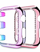 cheap -protector case for apple watch se 44mm series 6/5/4, pc screen protector-bling sparkly rhinestones diamonds protective cover for iwatch 44mm series 6/5/4, colorful/rose pink (2 pack)