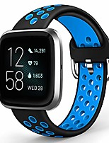 cheap -sport bands compatible with fitbit versa/versa 2 / versa lite, soft silicone waterproof breathable strap replacement air holes wristband for versa 2 smart watch