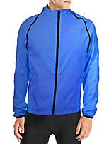 cheap -cycling convertible jacket for men reflective with removable sleeve bicycle windproof jacket blue xx-large